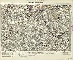 London passenger transport map (Sheet 124)